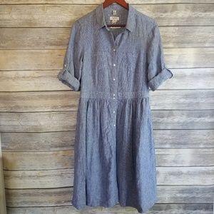 Malvin I Love Linen Nautical Striped Midi Dress